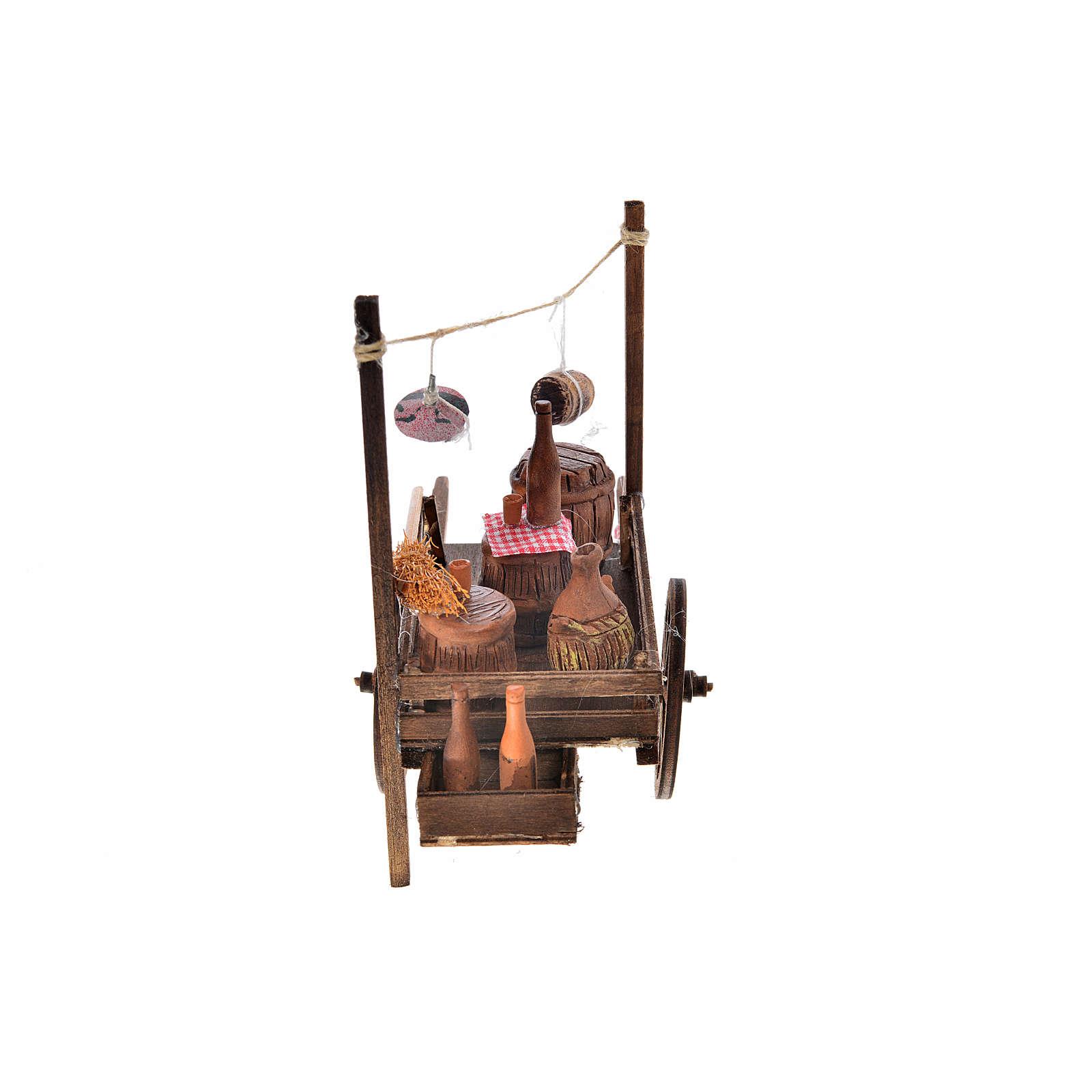 Carretto napoletano botti terracotta 15x18x8 cm 4