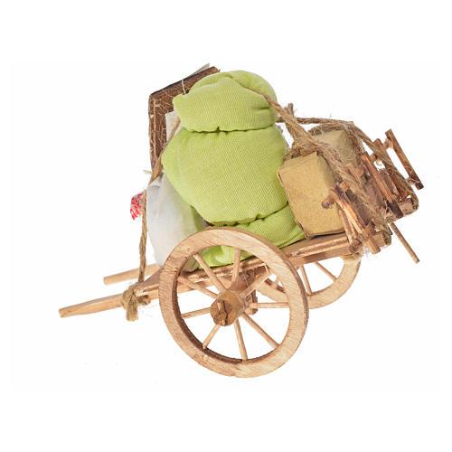 Carretto dello sfratto presepe napoletano 8x12x7,5 cm 2
