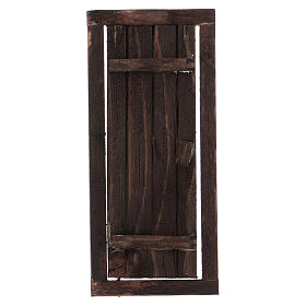 Nativity accessory, wooden door with frame 13.5x5.5cm s1