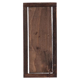 Nativity accessory, wooden door with frame 13.5x5.5cm s3