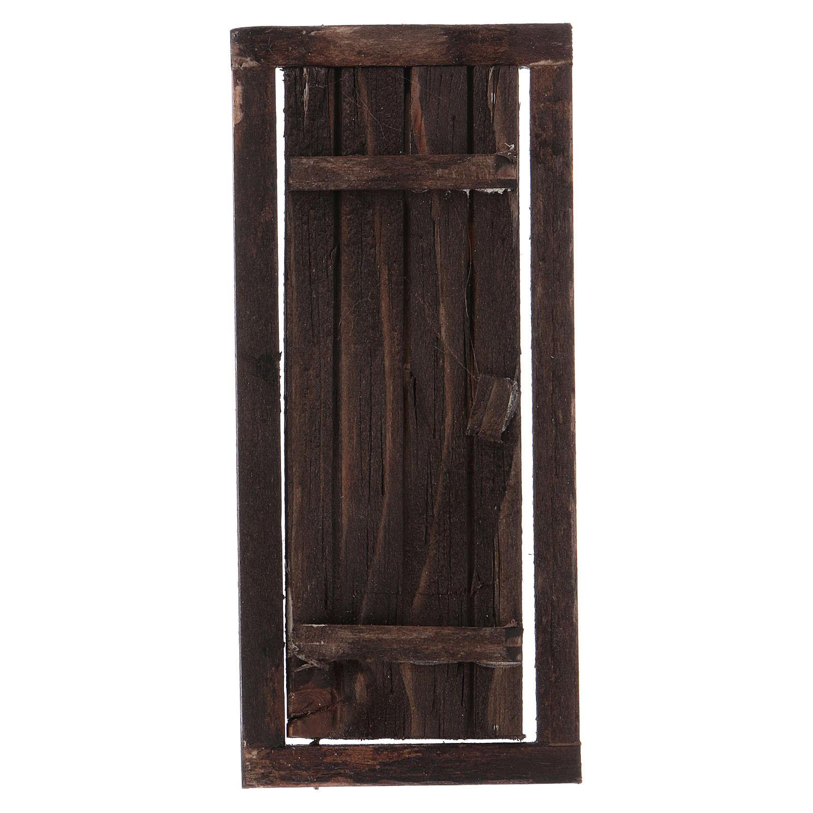 Puerta con marco de madera para belén 13,5x5,5 4