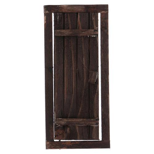 Puerta con marco de madera para belén 13,5x5,5 1