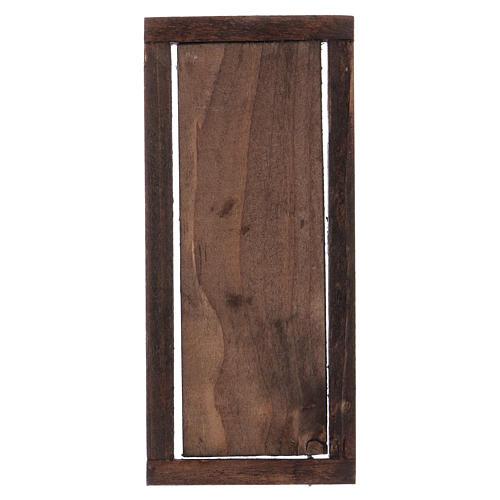 Puerta con marco de madera para belén 13,5x5,5 3