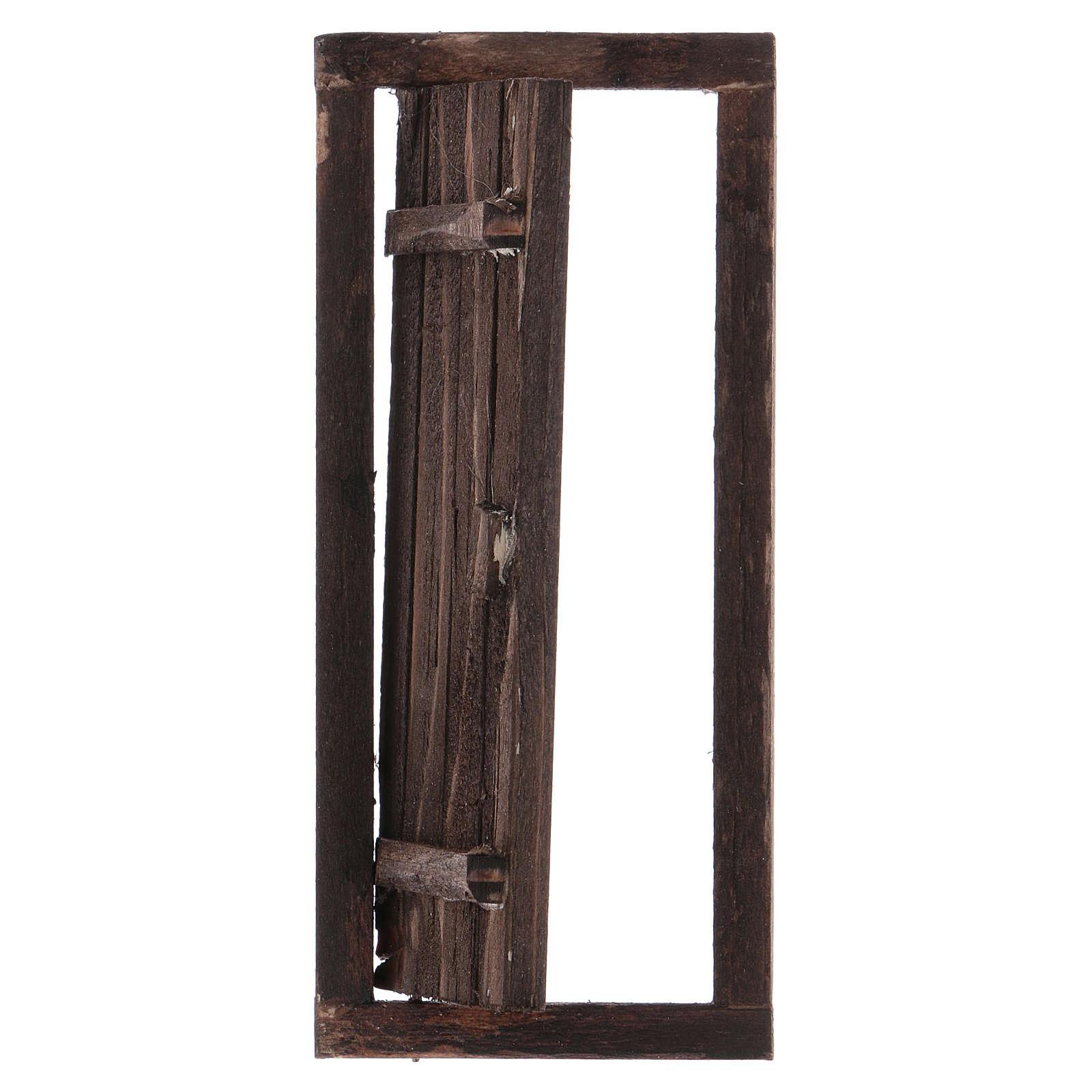 Porte avec châssis en bois pour crèche 13,5x5,5 cm 4