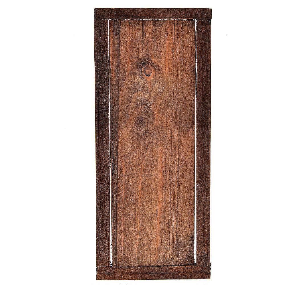 Porta con infisso in legno per presepe 13,5x5,5 4