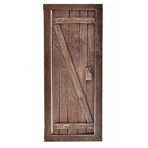 Porta con infisso in legno per presepe 13,5x5,5 1