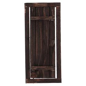 Porta com caixilho em madeira para presépio 13,5x5,5 cm s1
