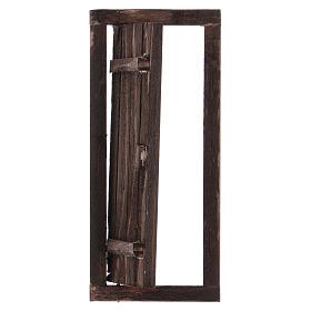 Porta com caixilho em madeira para presépio 13,5x5,5 cm s2