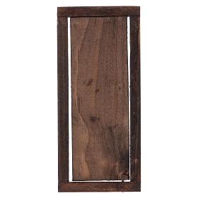 Porta com caixilho em madeira para presépio 13,5x5,5 cm s3