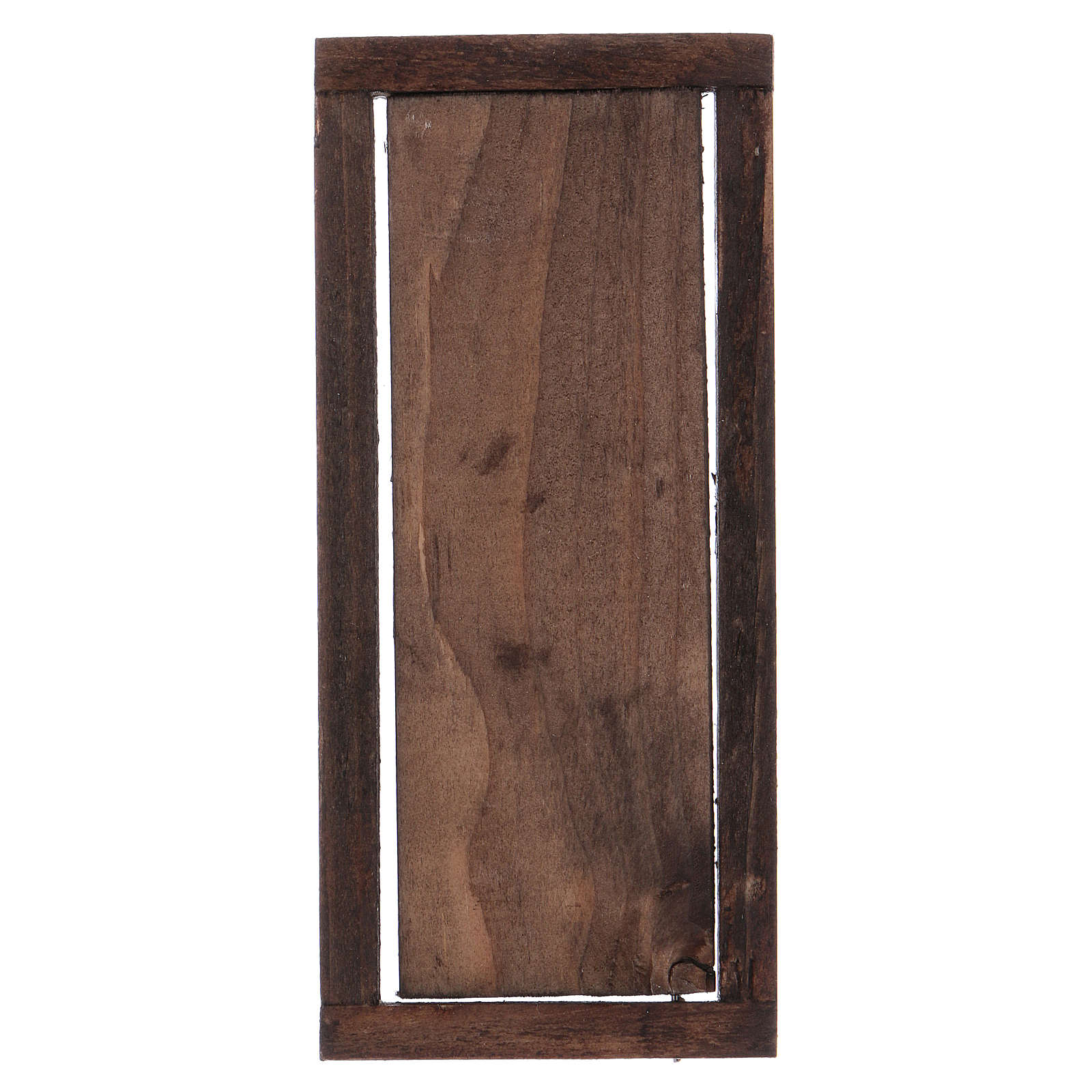 Nativity accessory, wooden door with frame 13 5x5 5cm