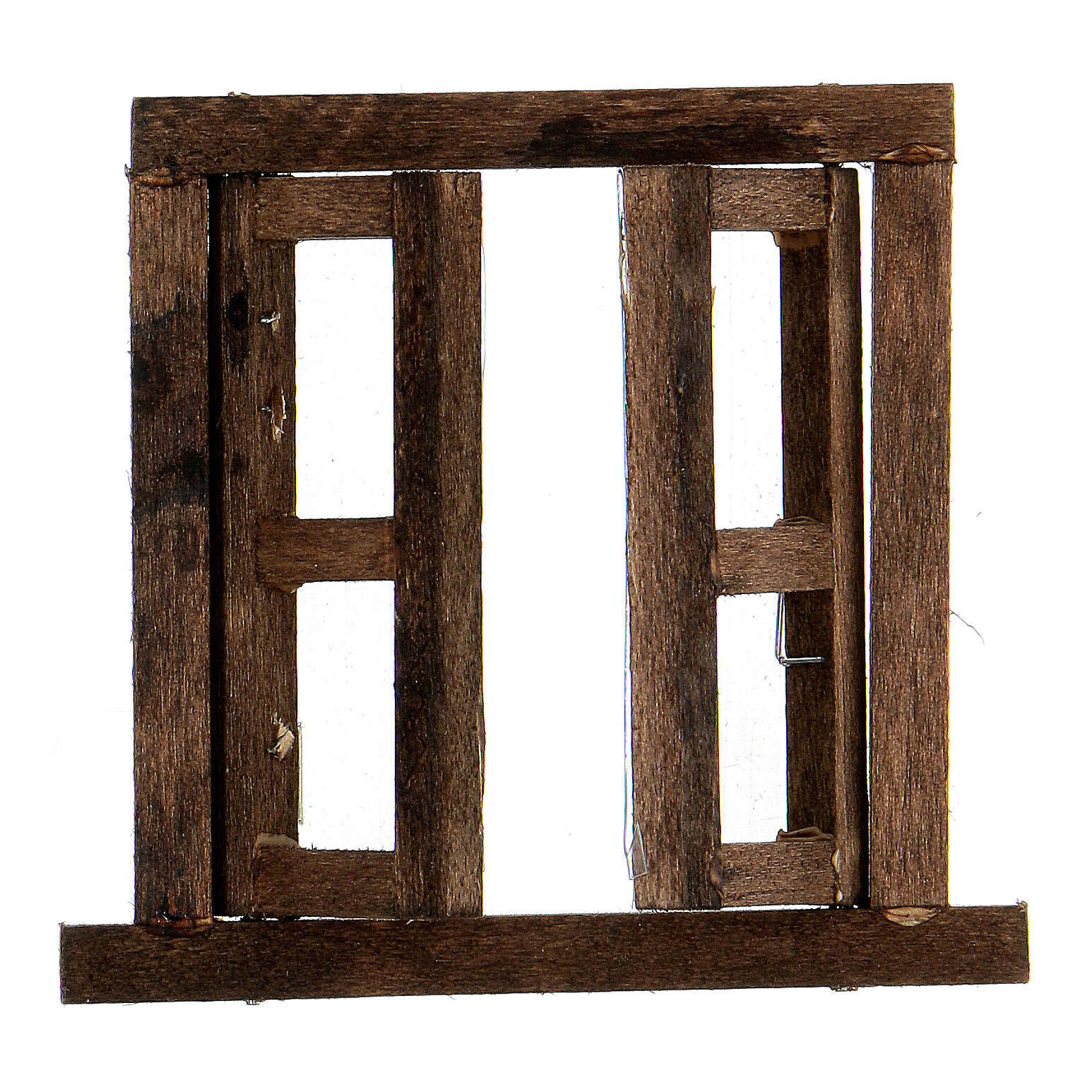 Nativity accessory, window, 2 doors with frame 6.5x6.5cm 4