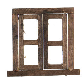 Nativity accessory, window, 2 doors with frame 6.5x6.5cm s1