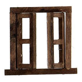 Nativity accessory, window, 2 doors with frame 6.5x6.5cm s2