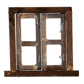 Nativity accessory, window, 2 doors with frame 6.5x6.5cm s3