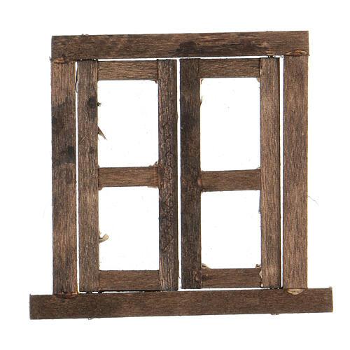 Nativity accessory, window, 2 doors with frame 6.5x6.5cm 1