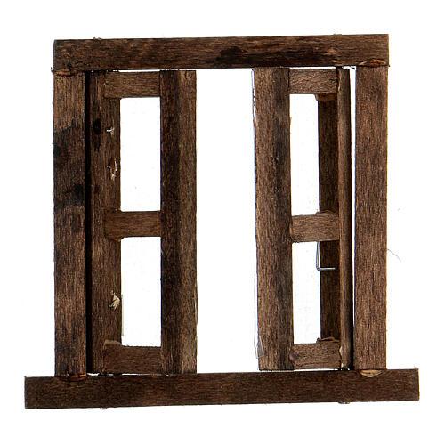Nativity accessory, window, 2 doors with frame 6.5x6.5cm 2