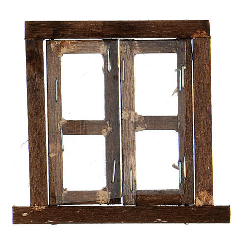 Nativity accessory, window, 2 doors with frame 6.5x6.5cm 3