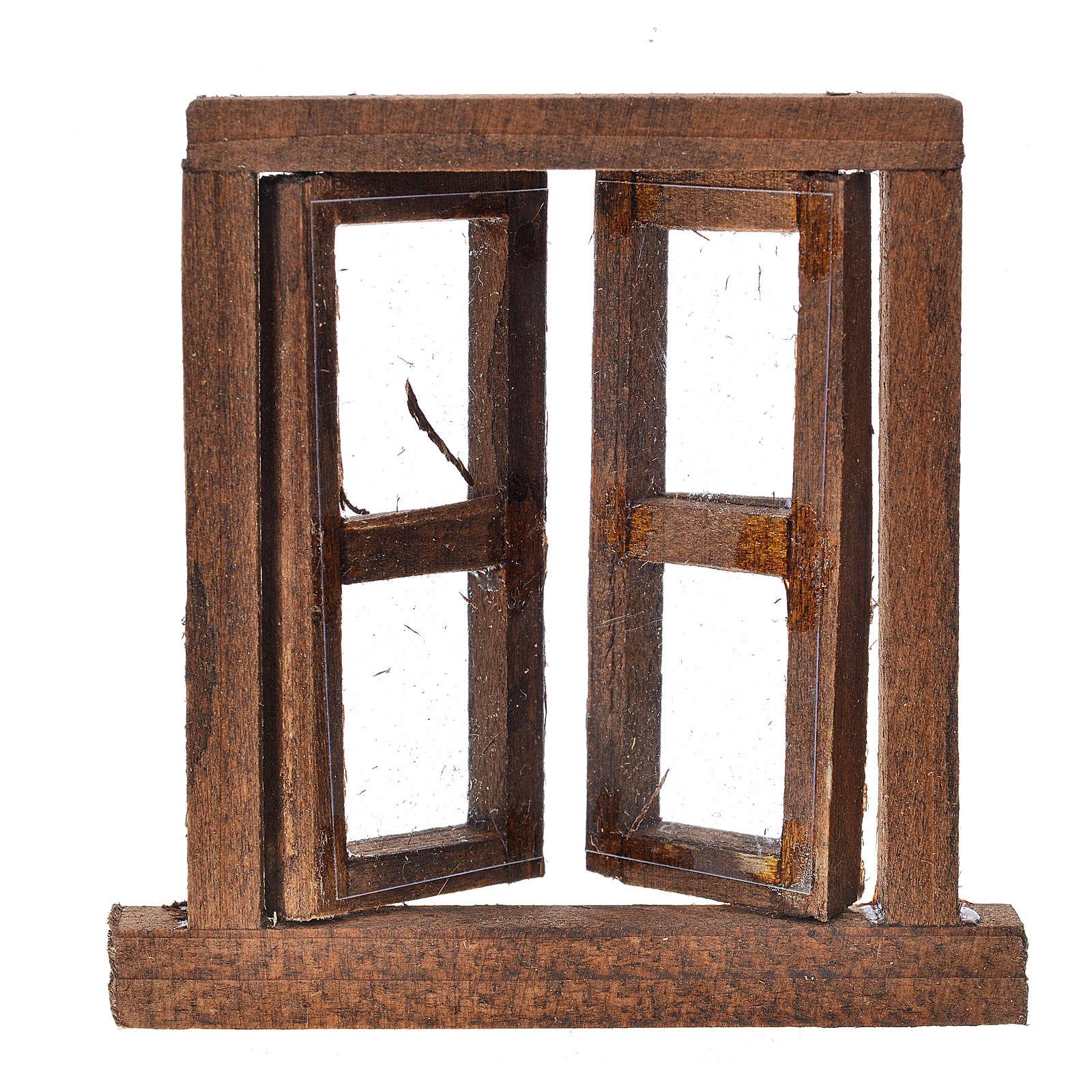 Fenêtre à 2 volets avec châssis 6,5x6,5 cm 4