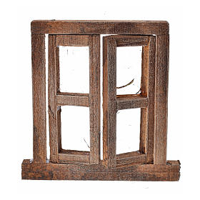 Fenêtre à 2 volets avec châssis 6,5x6,5 cm s1