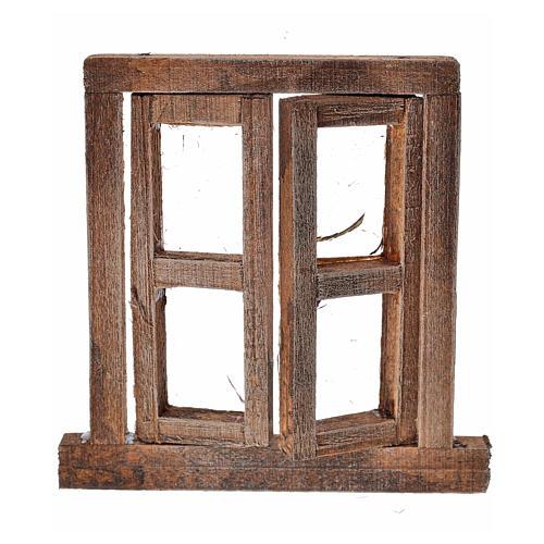 Fenêtre à 2 volets avec châssis 6,5x6,5 cm 1