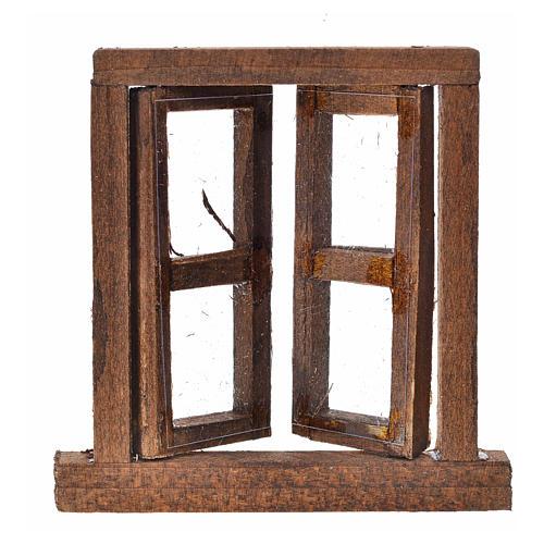 Fenêtre à 2 volets avec châssis 6,5x6,5 cm 2