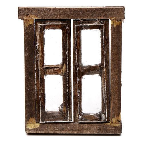 Finestra presepe 2 ante con infisso 5,5x4,5 cm 2