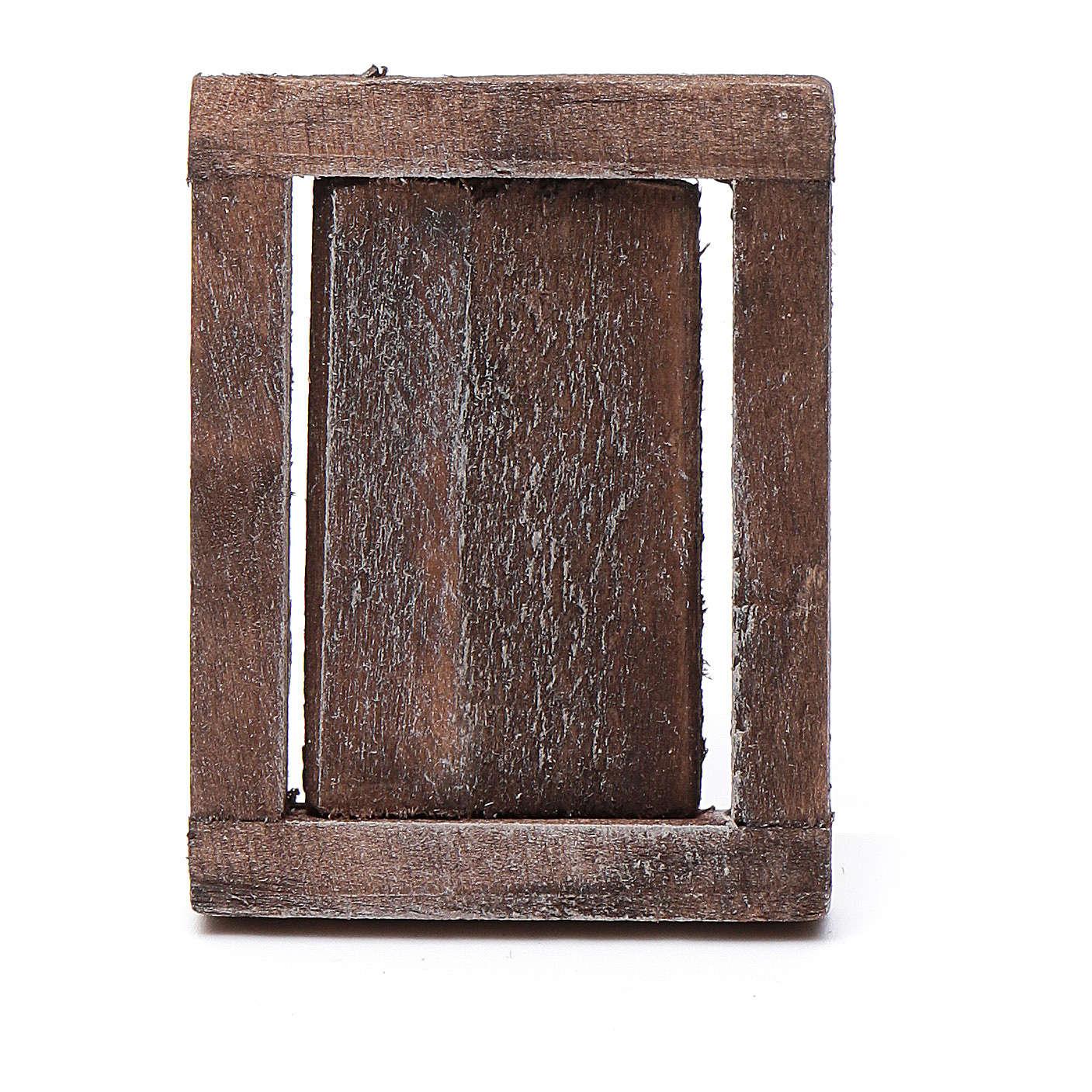 Finestra anta legno con infisso 4x3 cm 4