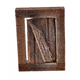 Nativity accessory, window with frame 4x2.5cm s1