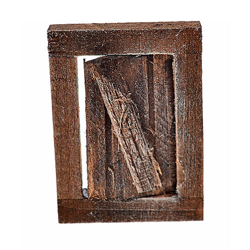 Nativity accessory, window with frame 4x2.5cm 1