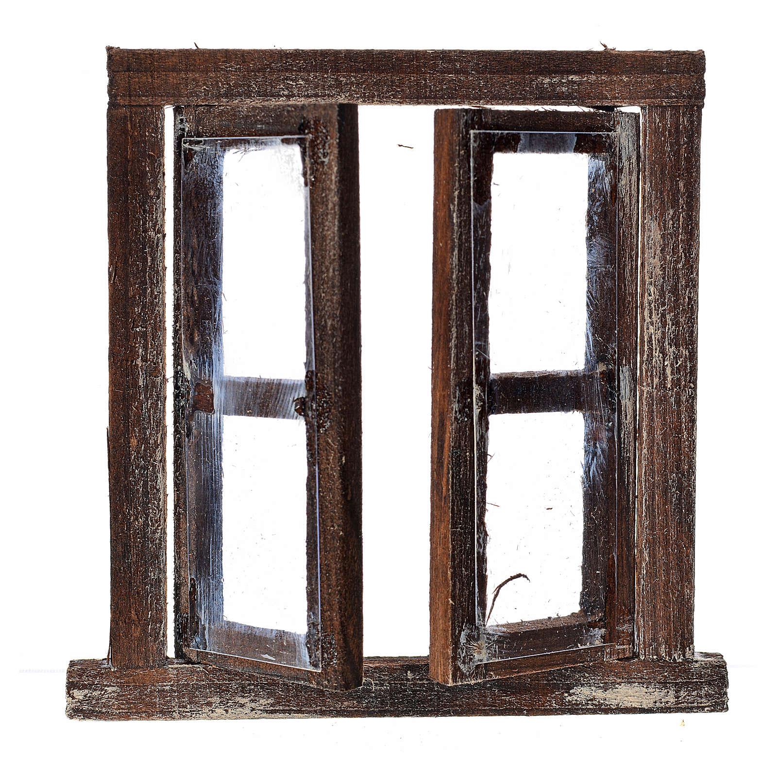 Finestrella 2 ante con infisso 8x6,5 cm per presepe 4