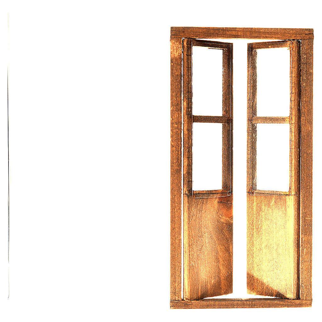 Puesta con 2 ante madera belén 17x8 cm 4