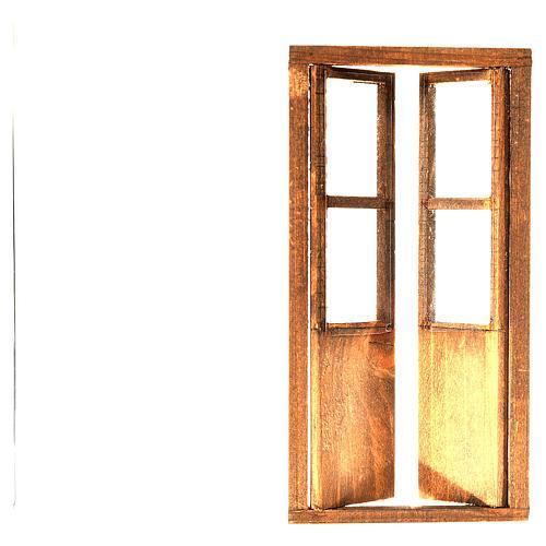 Puesta con 2 ante madera belén 17x8 cm 2