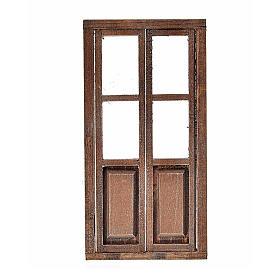 Porta 2 ante legno presepe 17x8 cm s1