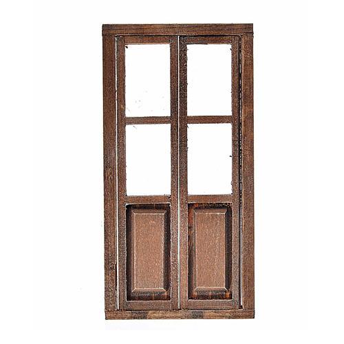 Porta 2 ante legno presepe 17x8 cm 1