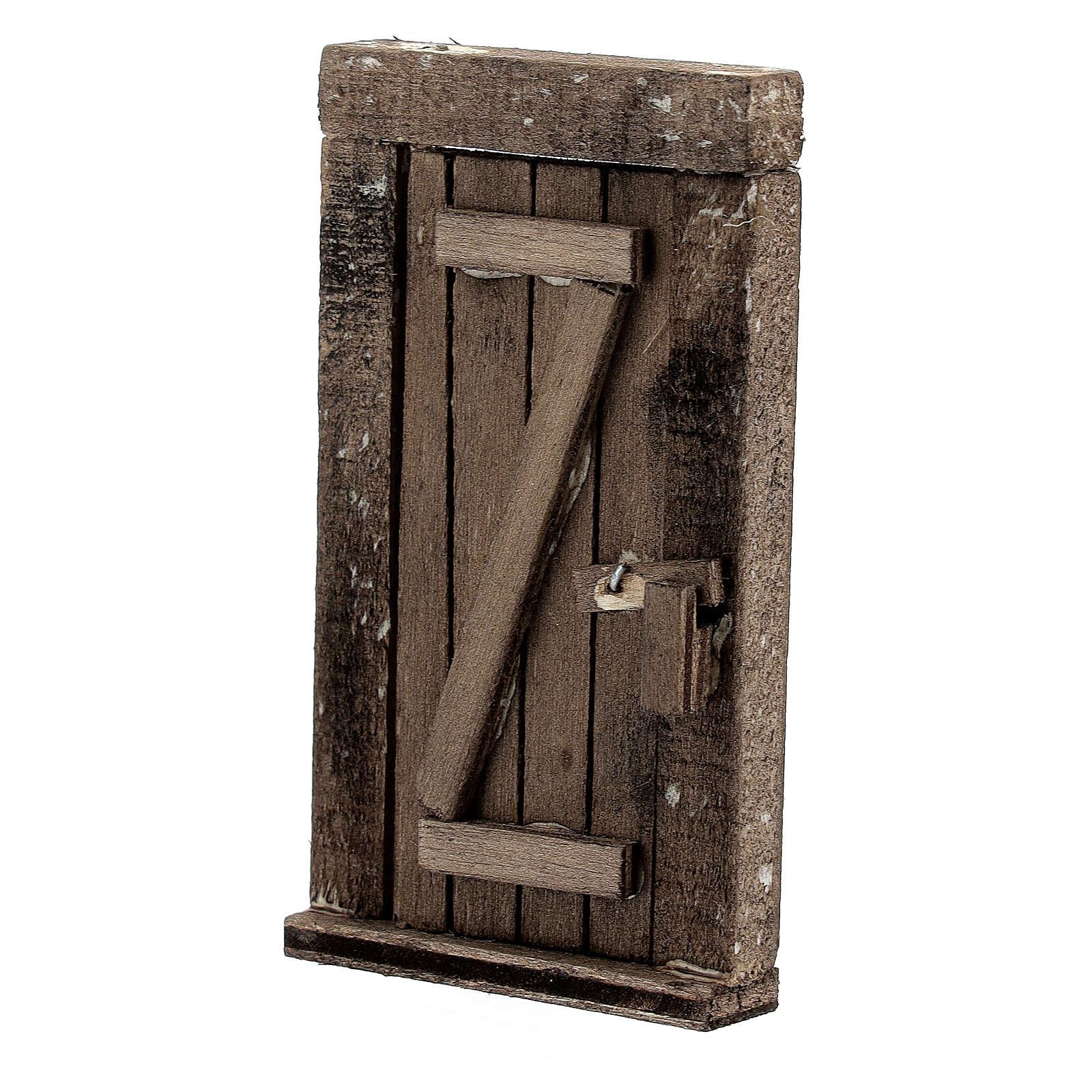 Nativity accessory, wooden door 9x5cm 4