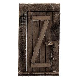 Nativity accessory, wooden door 9x5cm s1