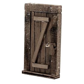 Nativity accessory, wooden door 9x5cm s2