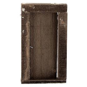 Nativity accessory, wooden door 9x5cm s3