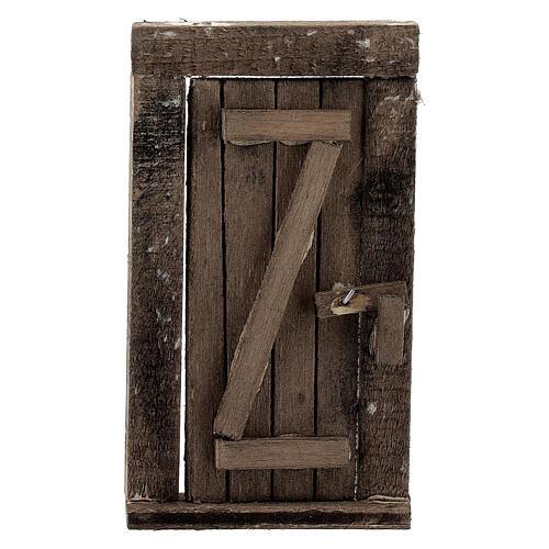 Nativity accessory, wooden door 9x5cm 1