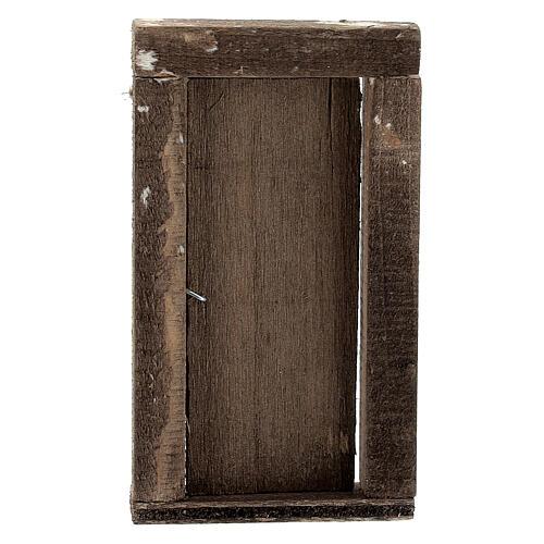 Nativity accessory, wooden door 9x5cm 3