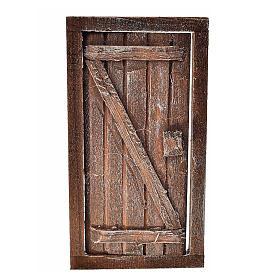 Porte 1 volet avec châssis bois crèche 9x5 cm s1