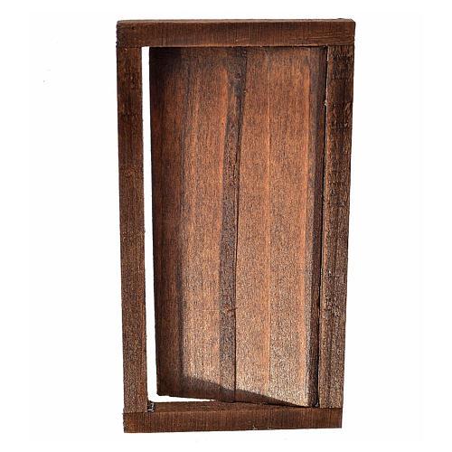Porte 1 volet avec châssis bois crèche 9x5 cm 2