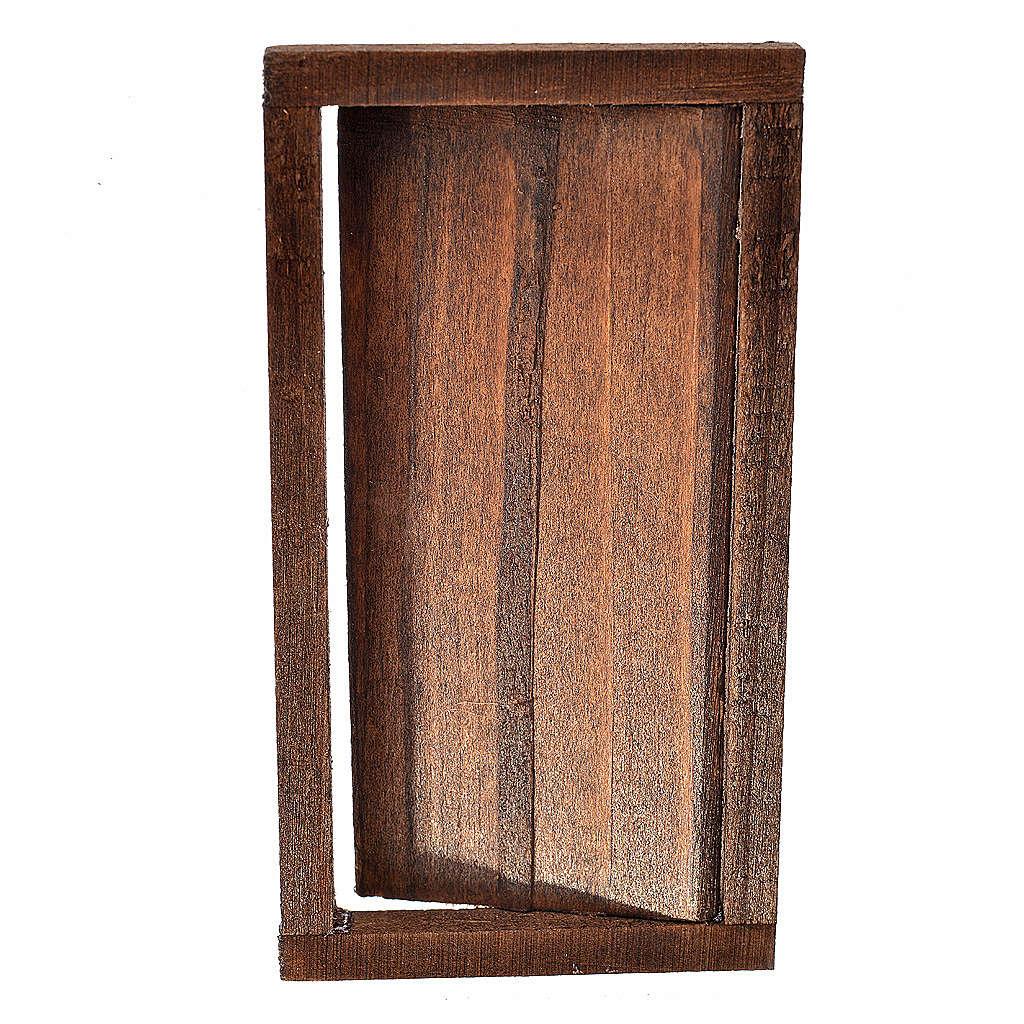 Porta 1 anta in legno con infisso 9x5 cm 4