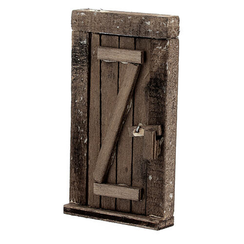 Porta 1 anta in legno con infisso 9x5 cm 2