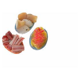 Assiette ovale nourriture assortie pour crèche 2,5x1,5 cm s3