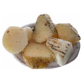 Assiette ovale nourriture assortie pour crèche 2,5x1,5 cm s1