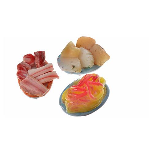 Assiette ovale nourriture assortie pour crèche 2,5x1,5 cm 4