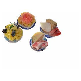 Assiettes rondes avec nourriture pour crèche 1,5 cm s4