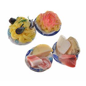 Assiettes rondes avec nourriture pour crèche 1,5 cm s2