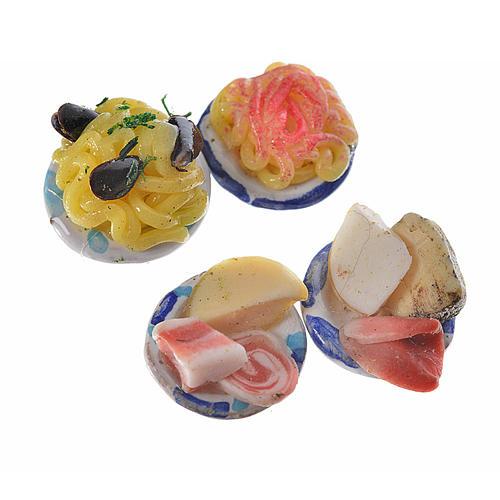 Assiettes rondes avec nourriture pour crèche 1,5 cm 2